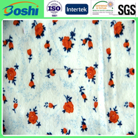 Popular becautiful flower polyester/cotton print fabric