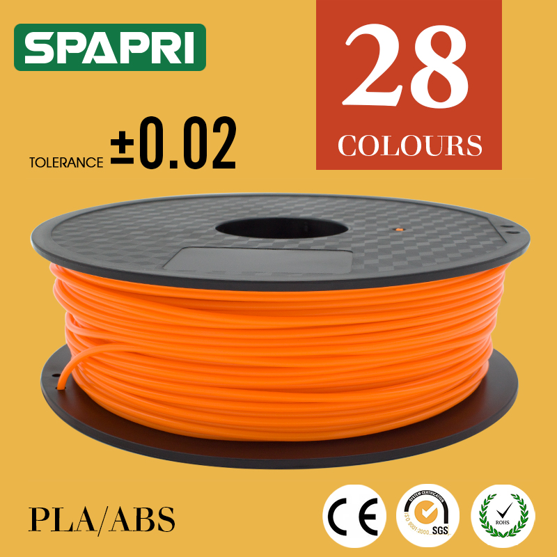 manufacturer colorful bulk consumables fluo orange ABS 1.75 3.0 3d printer filament 1.75mm pla for 3D printing