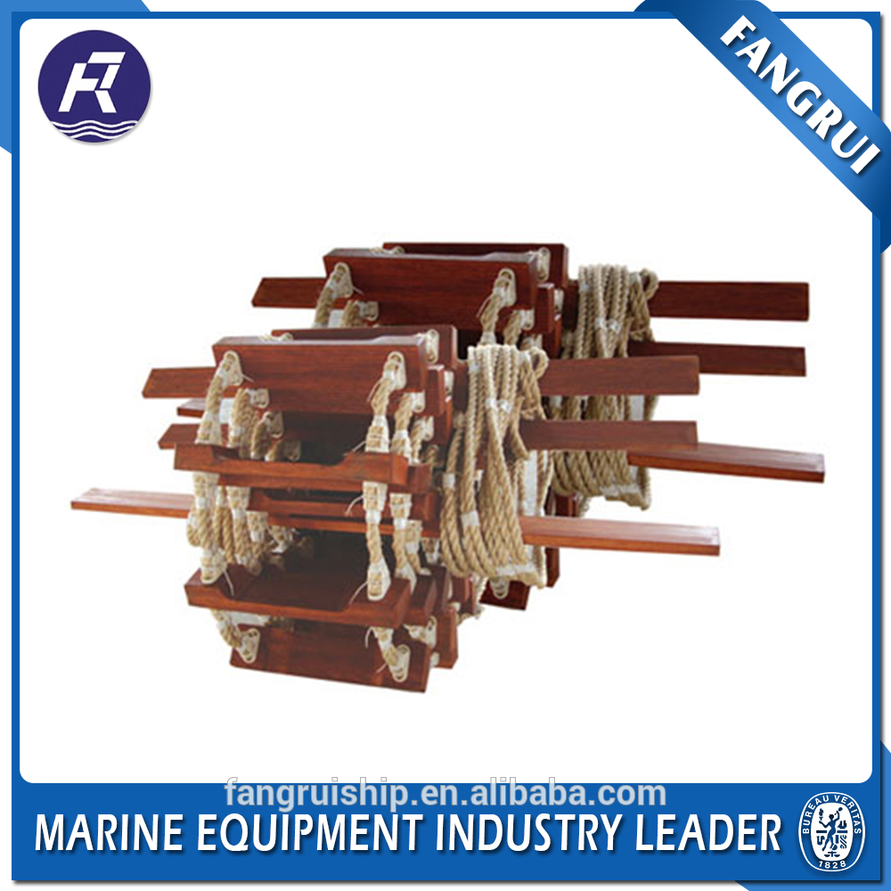 Good sell boat nylon sale customized marine abs safety wooden ship rope ladder