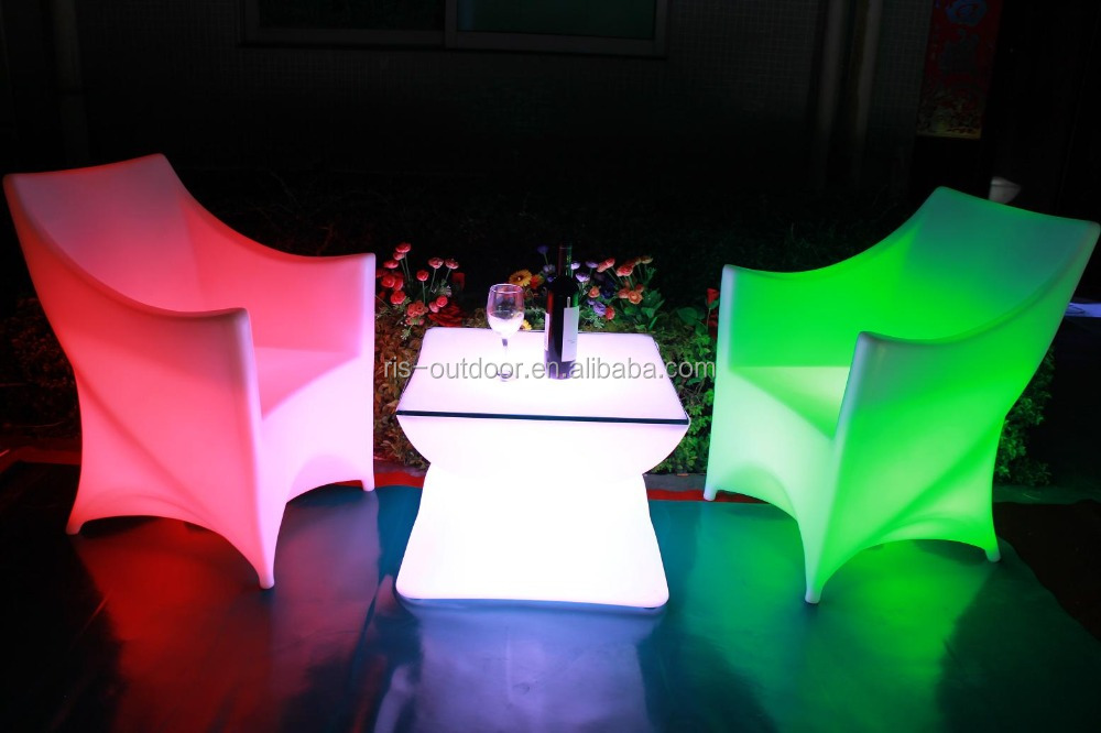 lighted led cube chair outdoor seating/led tables and chairs/led wedding chair