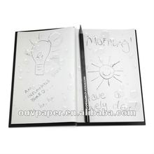 100% Waterproof Notepad with PVC material cover,Works underwater,Removable perforated pages,80g waterproof white paper