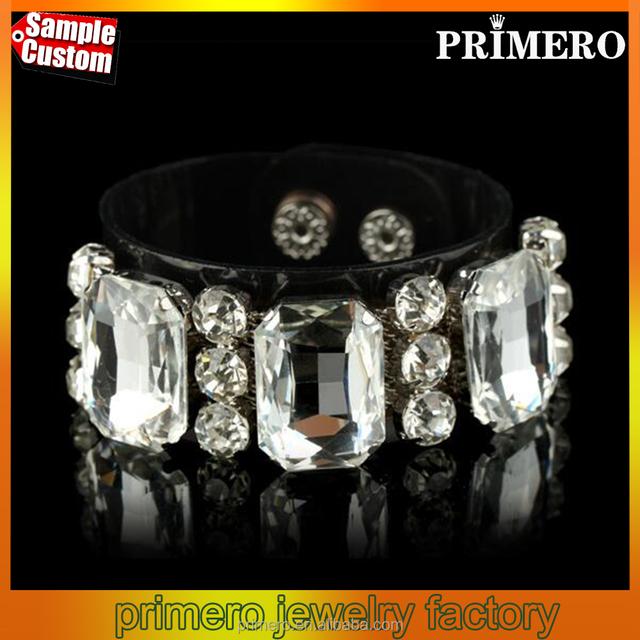 New Vintage Crystal Flower PVC bracelets & bangles For Women Fashion Designer Jewelry
