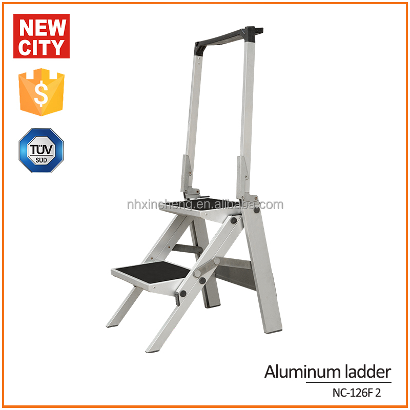 Best quality 2 step Aluminum-alloy extension laddder