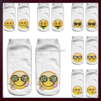 StylesILove Girls Teens 3D Emoji Print Ankle Low-cut Socks, Multiple Pattern Super Adorable 3D Printed EMOJI SOcks