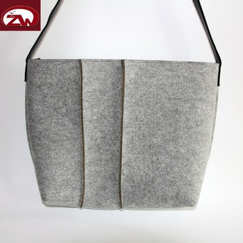 2017 Alibaba wholesale wool felt shoulder bag tote bags