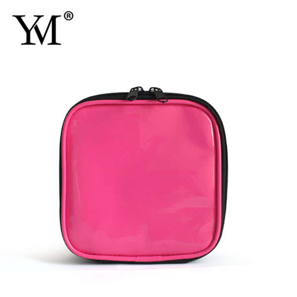 wholesale fashion designer promotion cute cosmetic make up lady pvc leather bags handbags