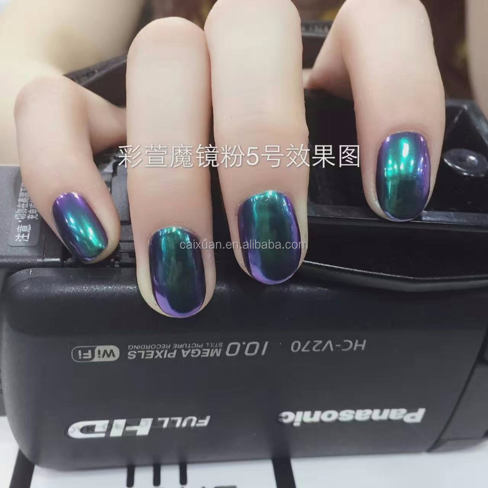 Chrome Color Glitter Pigment Fashion Metallic Nail Mirror Powder ...