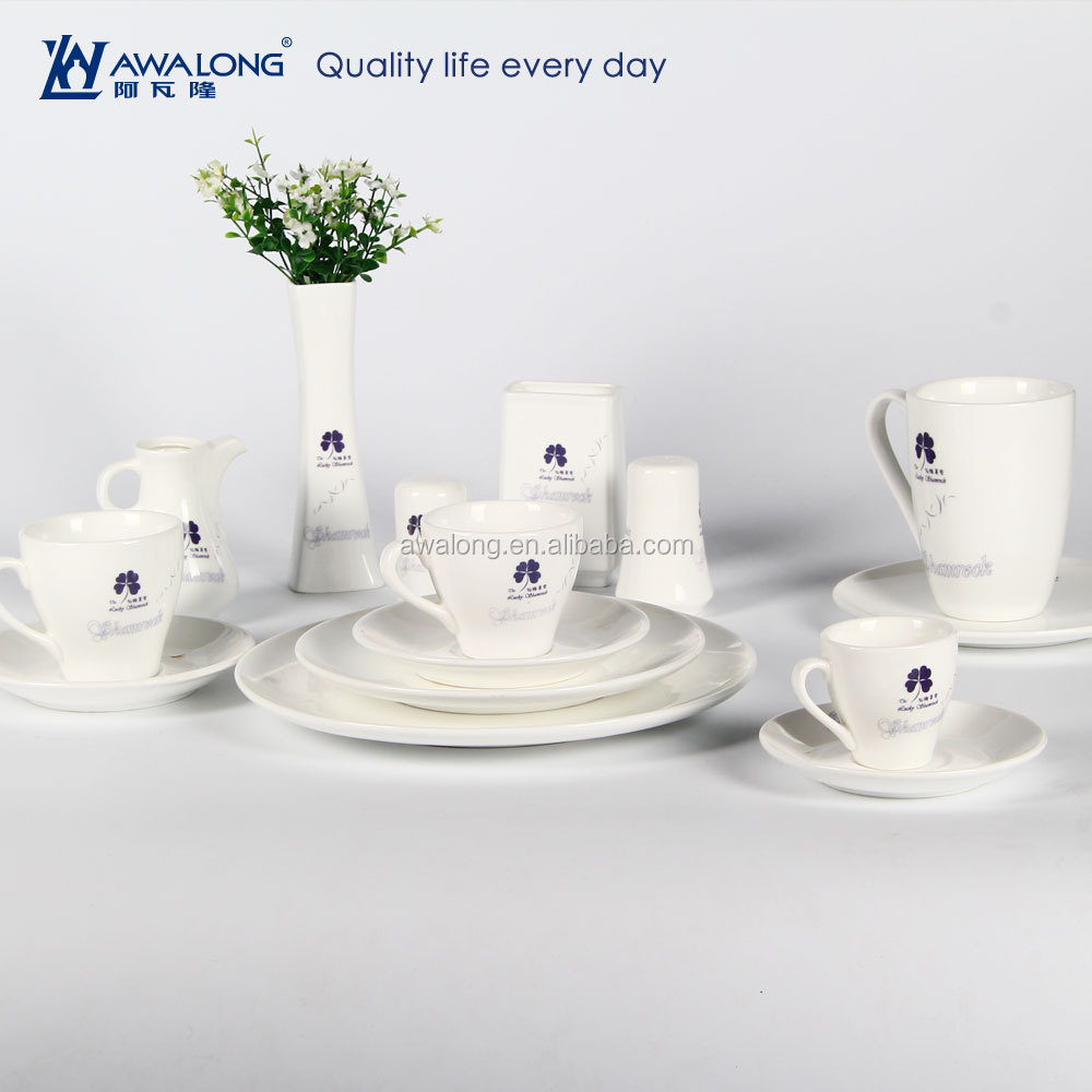Customizing Fine Bone China Friendly- Eco Catering kitchen ware Dinner Set
