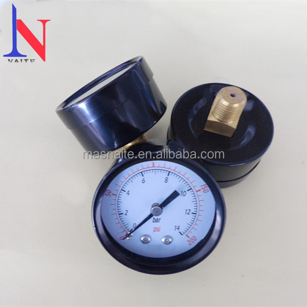 Durable black steel manometer