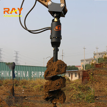 mini post hole digger for excavator