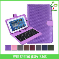 "Diamond sticth hard leather folding micro usb keyboard case cover for 7"" tablet"
