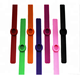Competitive price mosquito repellent single color custom Logo slap silicone band