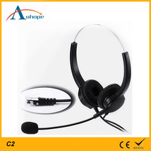 Cheap wired stylish telephone headphones durable computer headset with microphone for PC or gaming