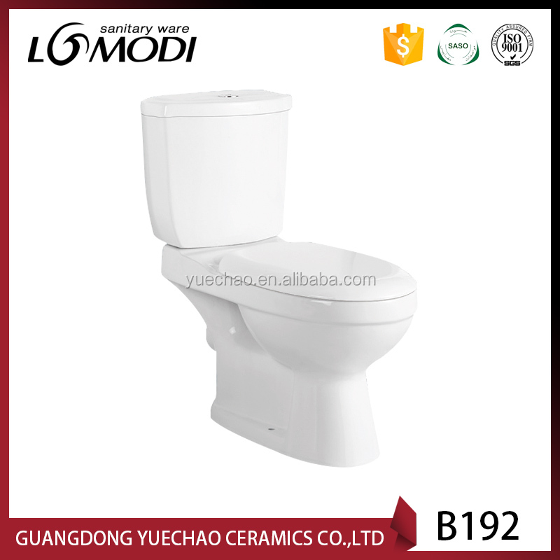 Chaozhou factory two piece toilet with toilet seat cover