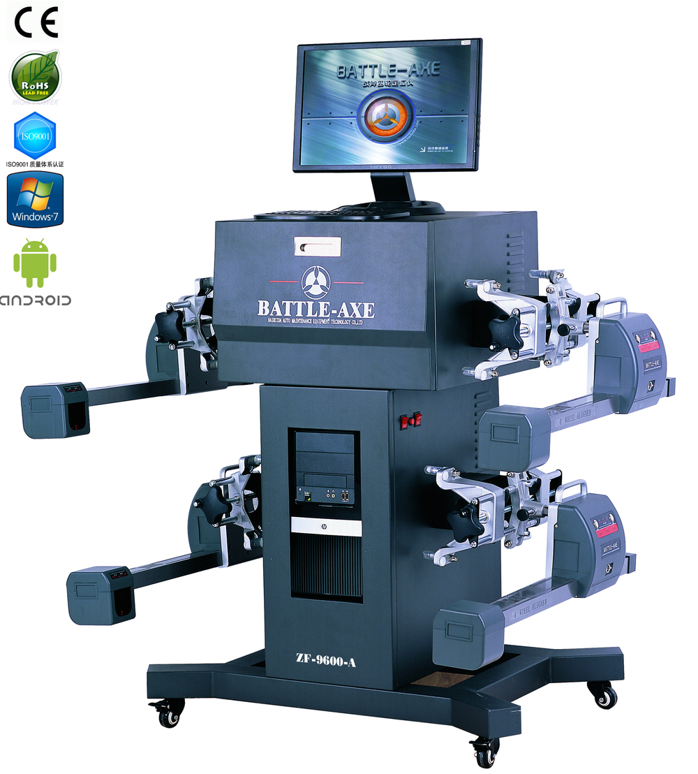 used alloy wheels rims alignment machine with laser sensor