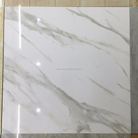 white full glazed polished porcelain tiles floor 60x60 ,china artificial marble porcelain floor tile