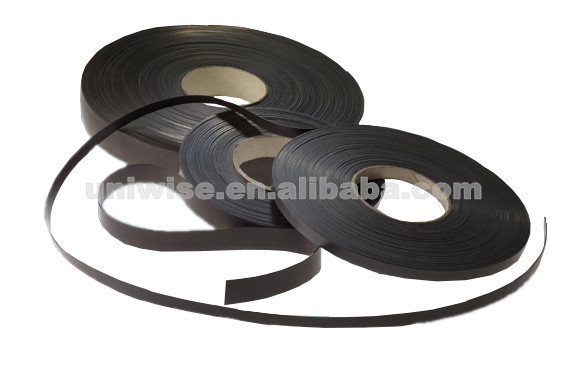 Permanent strong force magnet stripes for refrigator/freezer/fridge/cabinet door sealling,flexible magnetic strip