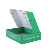 Custom Green Color <strong>Double</strong> Side Printing Tuck Top Corrugated <strong>Paper</strong> Packing Box