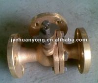 Chinese standard bronze 3-way ball valve