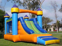 classic inflatable slide and bounce house combo
