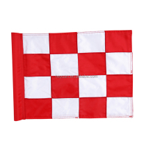 Hot Sale Embroidery Mini Golf Flag with Plastic Pole