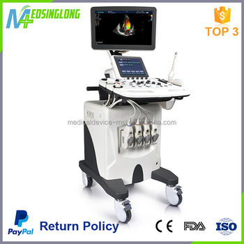 CE Certificate flat LED display ultrasound price with trolley sonoscape S30
