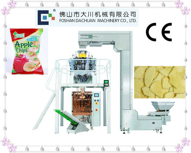 Vertical Automatic Apple Slice/Chips Packaging Machine With Weigher