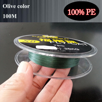 Hot sale! NTEC brand olive color 100M braided fishing line