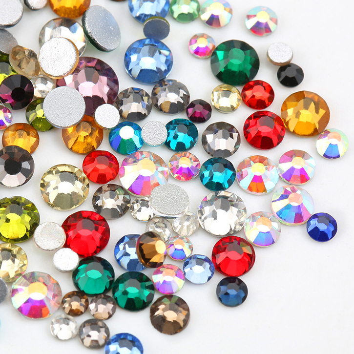 Plated Colors AB SS16-20(4.0-5.0mm) <strong>Crystal</strong> Flat Back Non Hotfix Rhinestones for Clothing Decoration Garment Rhinestones