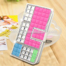 For Samsung Omnia M S7530 Case Cover Wholesale Bling Diamond Leather Case For Samsung Omnia M S7530