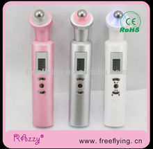 New Product Galvanic Photon light Heat Eye Anti Wrinkle Roll Ball Massager Eye Beauty Pen FF3308 love gifts