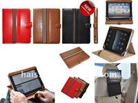 Genuine leather case for Nwe iPad 3, beautiful cases for iPad2
