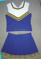 cheerleader costumes:shell top and pleats skirts(customize)