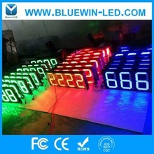 "Waterproof 8""10"" 12""16""18""20""24""inch LED numbers boards LED petrol gas price station SIGN /LEDTime Temperature display"