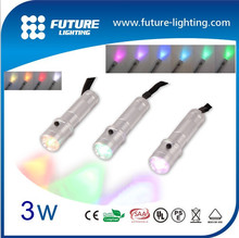 Shenzhen led torch light manufacturers Portable multifunction RGB 3w mr light led torch