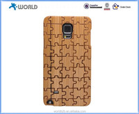Unique Real Handmade Natural Wood Wooden Hard Bamboo Shockproof Case for Samsung galaxy Note 4