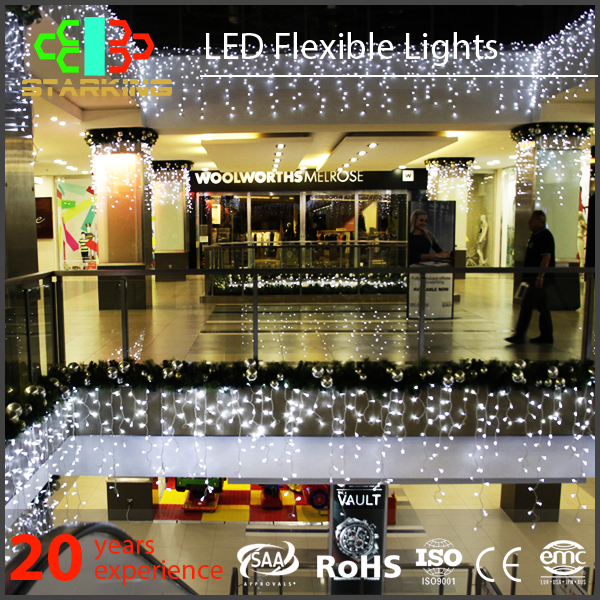 High Quality waterproof Xmas Window Wall Led Snowing Icicle Lights For Christmas ramadan decorations