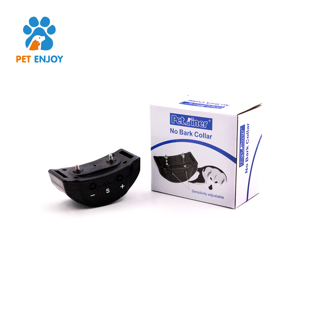 Owner's Voice Recording black rechargeable remote dog shock anti bark collar
