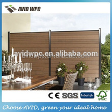 cheap but good quality outdoor used wood plastic composite wpc fence panels price for sale
