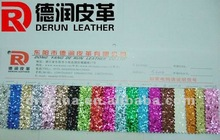 Popular PU glitter leather fabric S3002 Factory direct