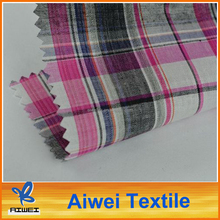 Cotton Yarn Dyed Plaid Designs Cotton Broadcloth Fabric