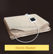 China supplier luxury 20VDouble size Dual Control with Timer/Adjustable Thermostat Tie Down Electric Blanket electric blanket