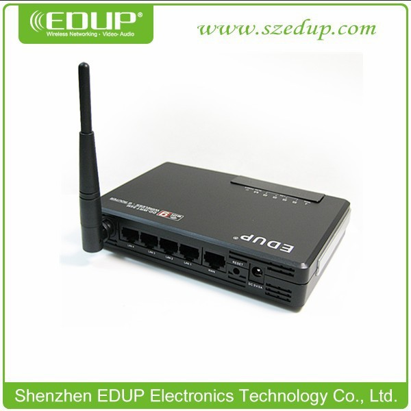 Cheap model 54Mbps EDUP 4 Lan port EP-DR280 WiFi Router DD-WRT