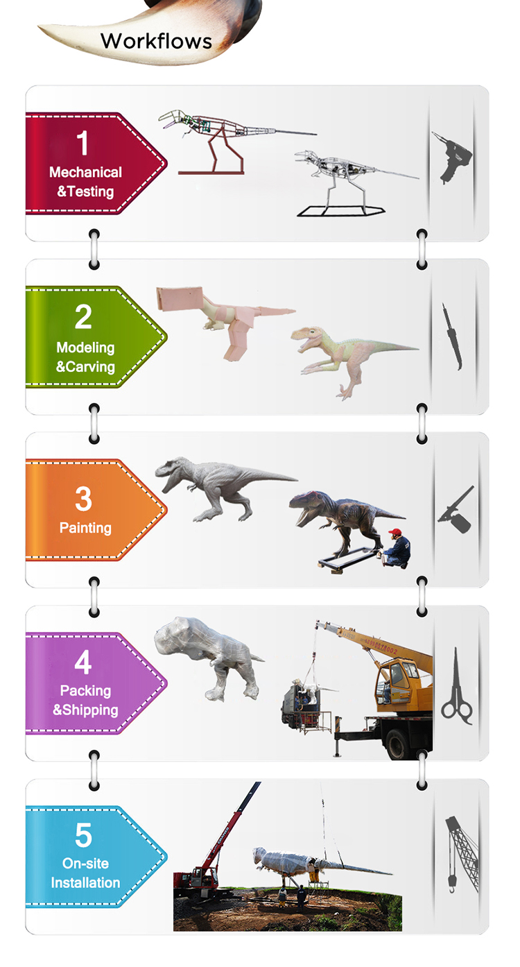 Outdoor Playground Equipment Large Dinosaur Model T-rex