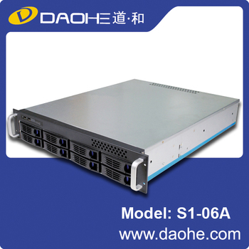 Hot Sale 2U 8bay 550mm length for Surveillance Rackmount Chassis