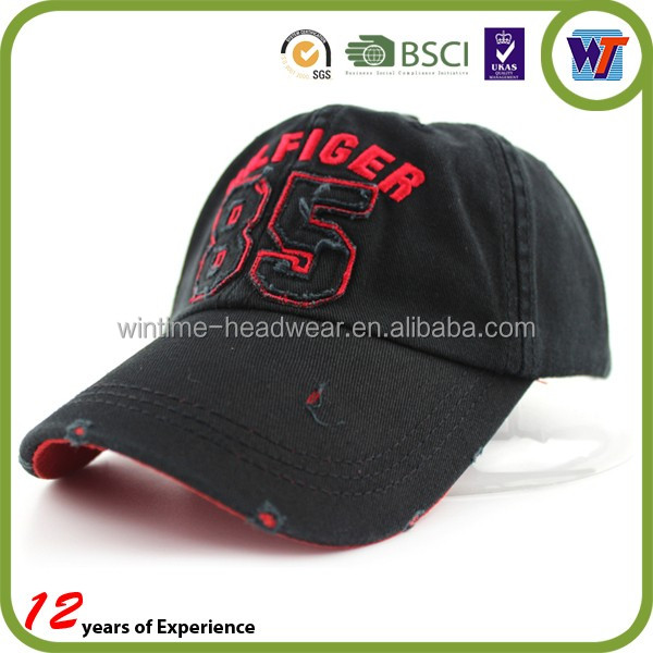 High quality embroidered 100% cotton 6 panel custom baseball cap