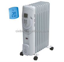 2500W LCD Display Electric Portable Oil Filled Radiator Heater