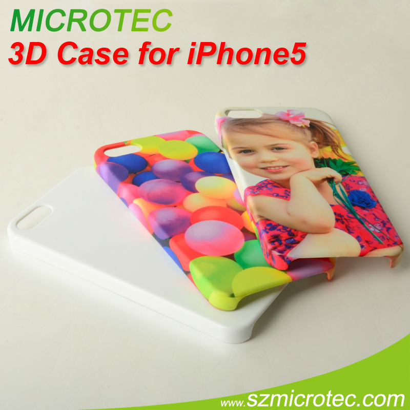 custom 3D sublimation pc cell phone cases for iphone 5