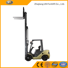 Auto Hybrid 3 Ton 3-Stage Wide View Mast 3 m Technology Diesel Forklift Solid Tires