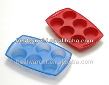 Big silicone rubber 6 cups cake baking pans maker in shenzhen guangdong china